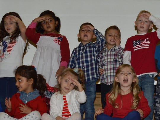 Immaculate Conception School/Pre-School students celebrated Veteran's Day.