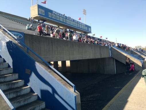 This was part of the crowd at Memorial Stadium in Terre