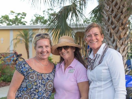 Tara Ramsey, left, Michelle Kantzer, and Gwen Zorc
