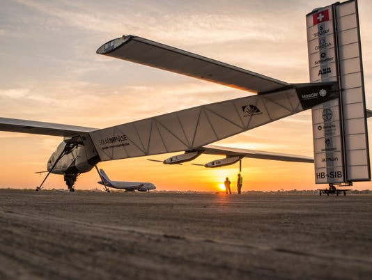 Solar Impulse take-off from Ahmedabad to Varanasi