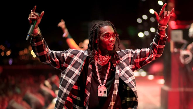Offset of Migos performs onstage during Coachella in April.