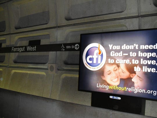 The Unaffiliated, which includes atheists and agnostics but also people who simply don't belong to any group, are now the second largest group on the religious landscape in Indiana. In recent years, humanist groups put up billboards like this one in cities around the country, including Indianapolis, to promote understanding about those who don't believe.