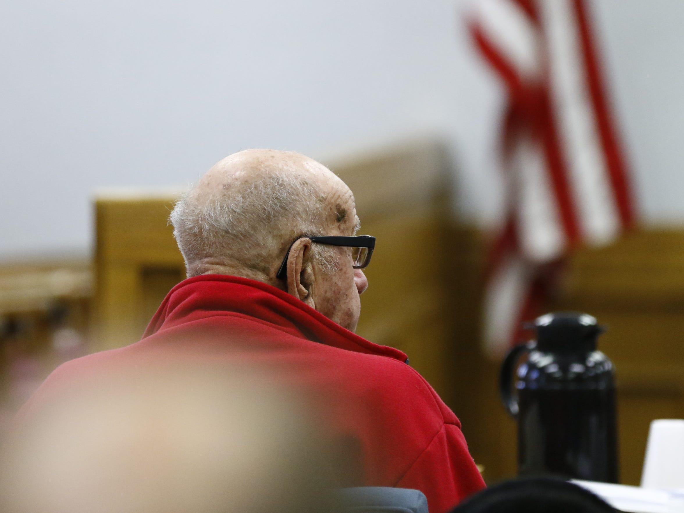 Edward Heckendorf, 92, sits through a trial on Feb.