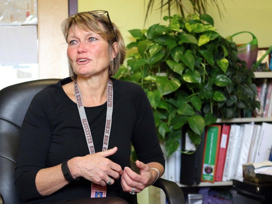 Cindy Juncker, a nurse leader for the Gloucester Public School systems, talks about programs they use in their schools to help students who may be at risk or struggling with drug issues.