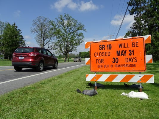 Ohio 19 to be closed for 30 days