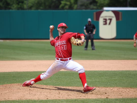 UL pitcher Wyatt Marks pitched 7 innings for the win