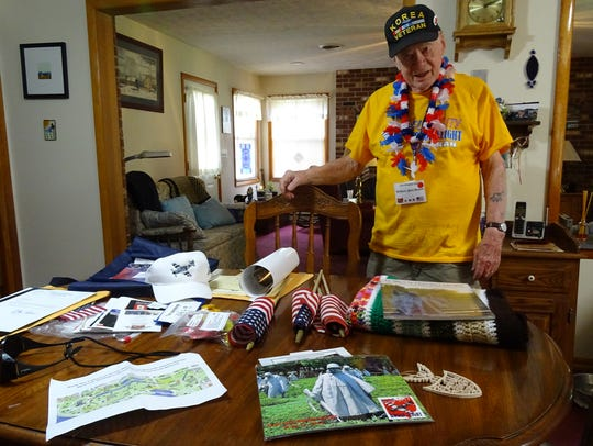 Bill Bloom was given many gifts during his trip to