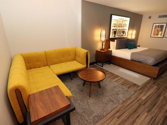This is a first-floor suite at the Vandivort Hotel.