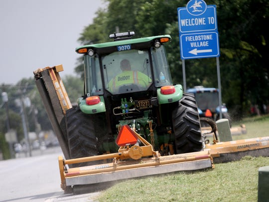 Del Dot works mow inside of sealed machine that can help from getting bit by mosquitos.