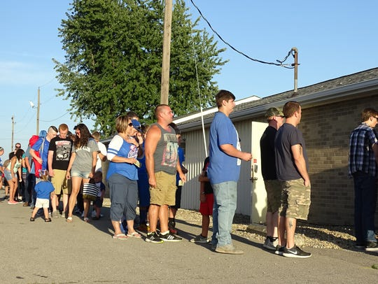 Fans wait excitedly to get into the Wynford versus