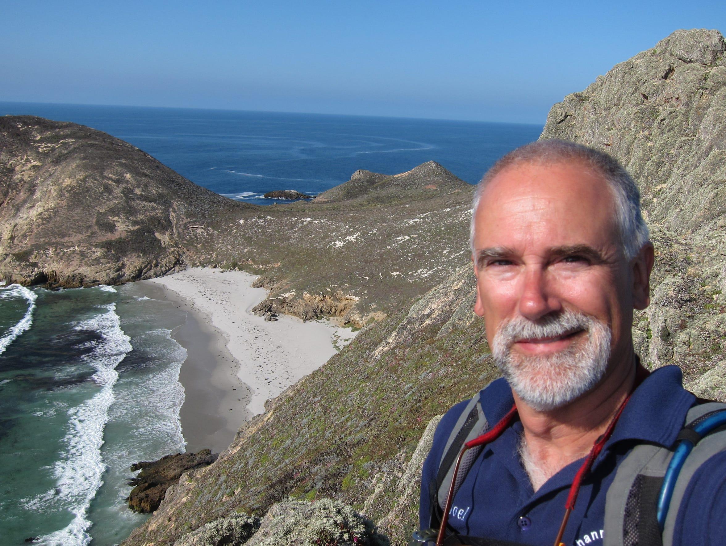 Joel Justin volunteers on San Miguel Island.