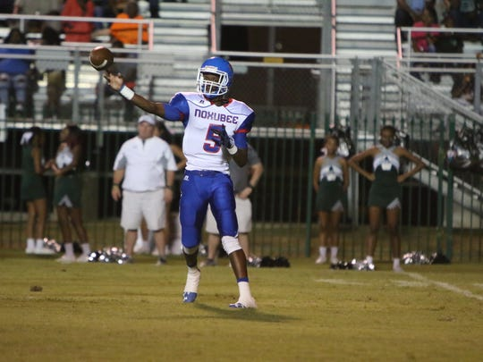 Noxubee County Tiger quarterback Armoni Clark with