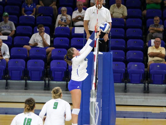 Action from the FGCU volleyball team's match against Florida International University at Alico Arena on Tuesday, September 20.