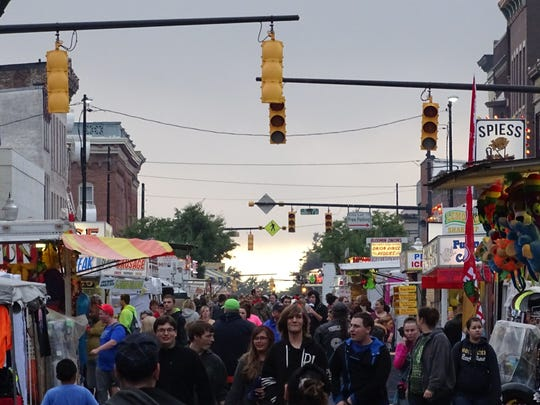 Harding Way in Galion was filled Thursday with fairgoers during the Galion Oktoberfest, which runs until Saturday night.