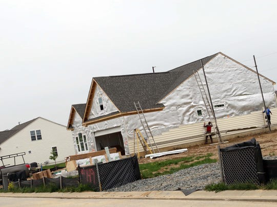 A home in Legacy at Odessa National under construction. Age-restricted subdivisions like Legacy at Odessa will become even more common as Delaware's senior population continues to grow.