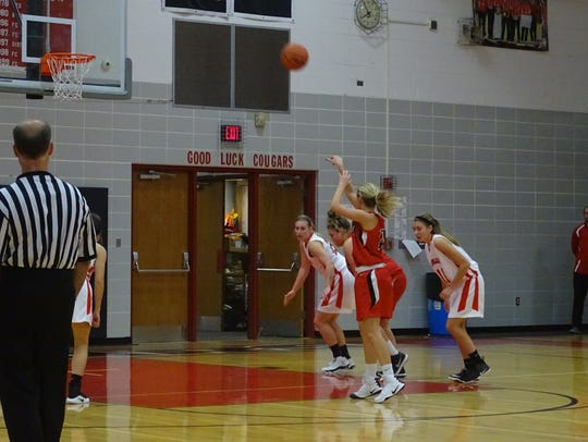 Bucyrus' Alivia Lewis shoots a free throw in the first