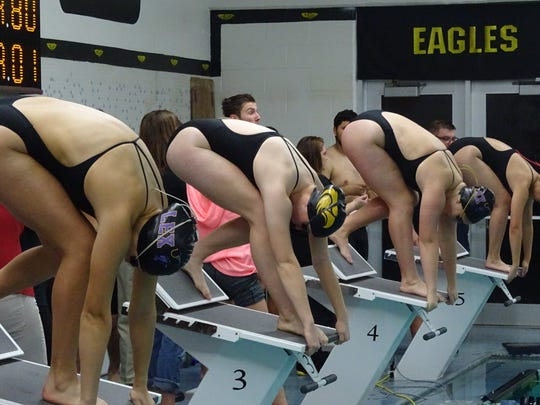 Lexington and Colonel Crawford girls prepare to diver