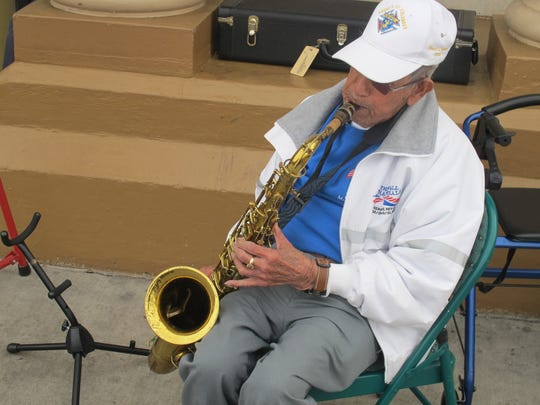 Ed Gutierrez has been playing  the saxophone for over