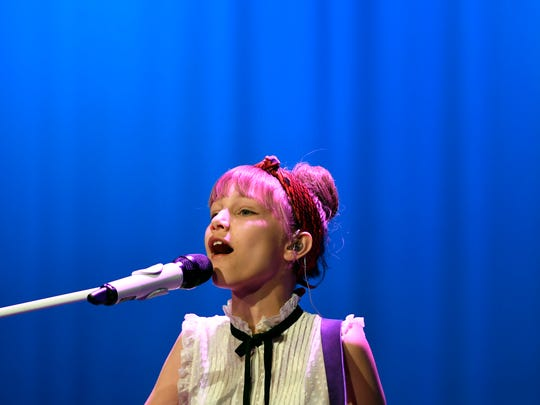 """""""America's Got Talent """" season 11 winner Grace VanderWaal performs at Ramapo High School in Franklin Lakes, NJ on Sunday, May 21, 2017. All proceeds from ticket sales went towards the Valley Hospital Auxiliary to fund child and adolescent mental health and home care programs."""