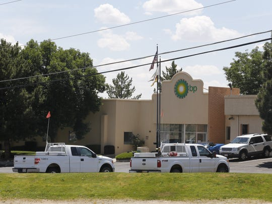 The former BP America Inc. building is pictured in 2017 in Farmington prior to the company closing its local office. BP's San Juan Basin natural gas assets are being sold to a renewable energy-focused European company called IKAV.