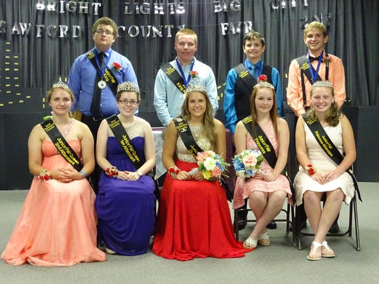 Courts for the 2017 Crawford County Junior Fair Royalty