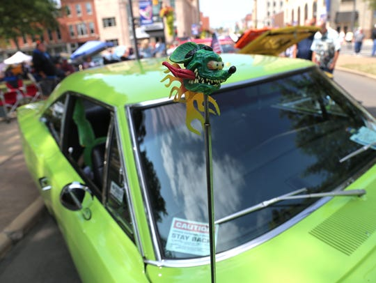 Car lovers from all across the area came to downtown