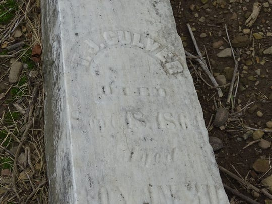 An obelisk bearing the name of T.J. (Thomas) Culver is located at Swisher Cemetery in Washington Township.