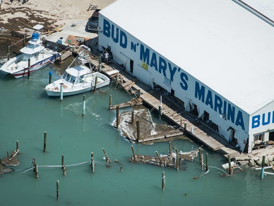 his is Bud N' Mary's Marina damaged By Hurricane Irma,