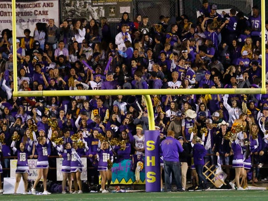 Salinas' student section came ready Friday night as