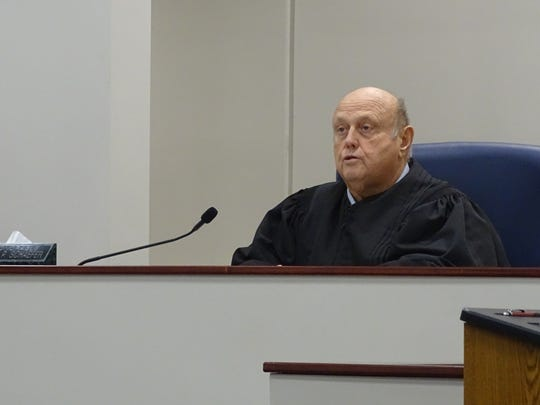 Shelby Municpal Court Judge Jon Schaefer explains he will recuse himself from a case in which the city's law director is the defendant.