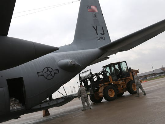 The 179th Airlift Wing Force return to their base on