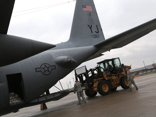 The 179th Airlift Wing Force return to their base on Sunday after spending a month helping with the hurricane relief efforts in Puerto Rico.