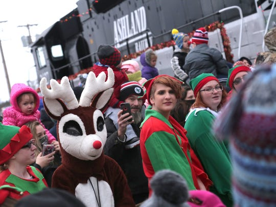 The annual Polar Xpress parade and holiday event took place in downtown Shelby in 2017.