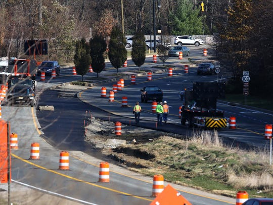 Major road construction along Route 141 between Lancaster