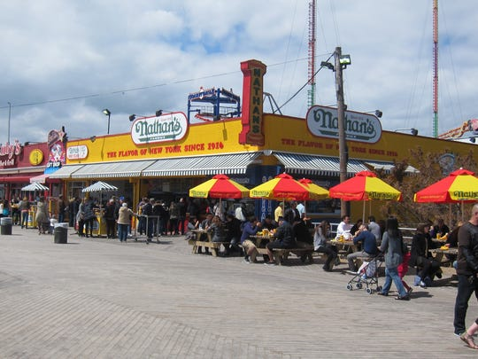 Nathan's is the most famous hot dog eatery in the world, and home to the annual International Hot Dog Eating Contest in Coney Island.