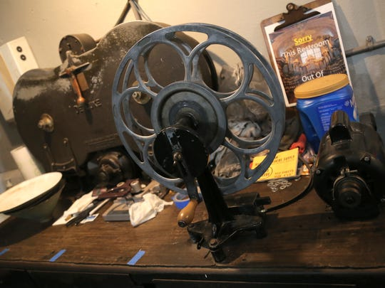 Tools for dealing with film litter a desk inside the