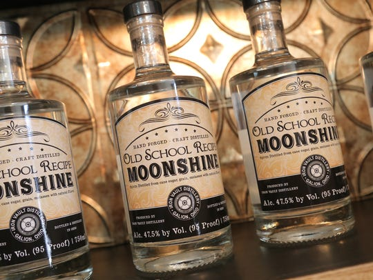 Iron Vault Distillery's moonshine was available for