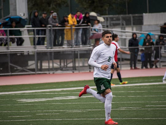 Junior forward Angel Amezcua continued his hot streak