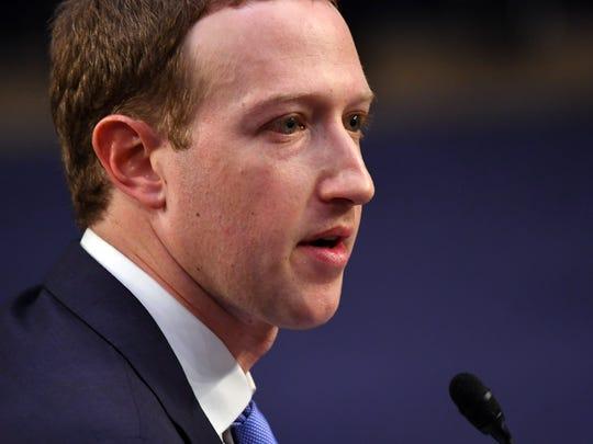 Facebook CEO Mark Zuckerberg testifies before a joint