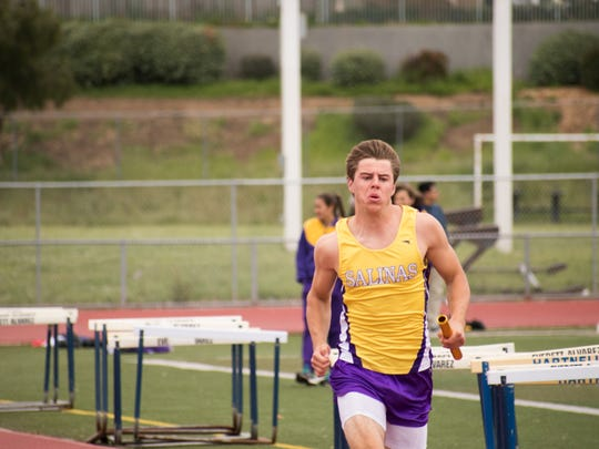 After finding success in the hurdles his sophomore and junior seasons, Reade's joined the 4x100 meter relay team that has the fifth-best time in league this season.