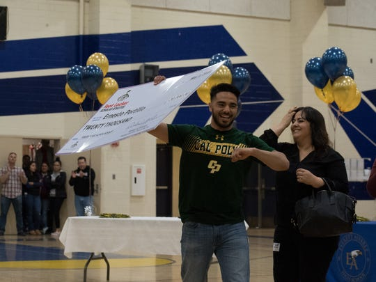 Everett Alvarez senior Ernesto Portillo won one of 20 scholarships given by Foot Locker nationwide as a part of its Scholar Athlete Program.