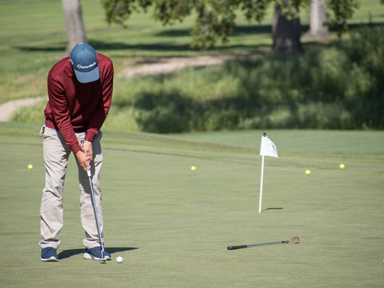 """One of the strengths of Palma senior Joey Burlison's game on the course is his ball striking. """"I wasn't that tall or that big,"""" he said. """"So I'd have to hit it straight to compete with my brothers."""""""