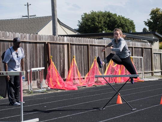 Though she excels at the short sprints, Riordan went into this season with a focus on the 300 meter hurdles. She won the last seven races of the season on her way to a Gabilan Division title.