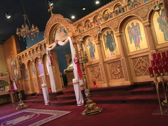 The altar at Sts. Constantine and Helen Greek Orthodox