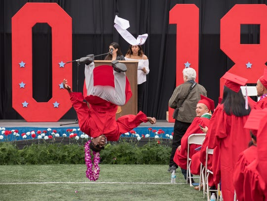 The commencement ceremony for the North Salinas High