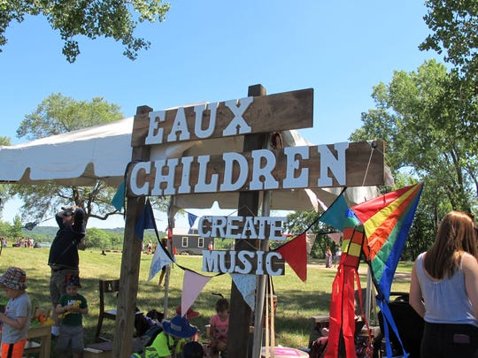 The Eaux Kids stand featured musical toys for children and their parents to play with during the festival.