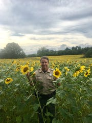 Bill Smith manages the sunflower fields for TWRA to
