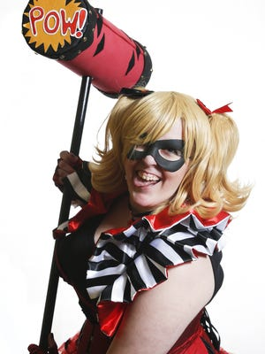 New Castle's Kelsey Carson as Harley Quinn, the DC Comics character.