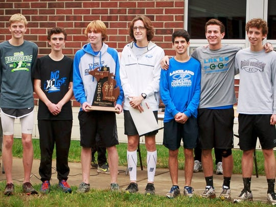 The Lakeland boys cross country team repeated as Division