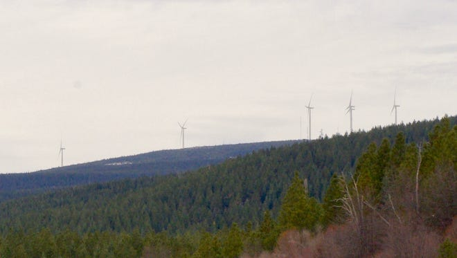 Avangrid Renewables wants to build up to 100 wind turbines on property near Hatchet Ridge outside Burney. Avangrid's project would be much larger than the Hatchet Ridge wind energy project (pictured).